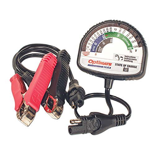Optimate Test - State of Charge, TS-127, State of Charge Tester - All 12V Lead-Acid & 12.8V/13.2V Lithium (Color: Black)