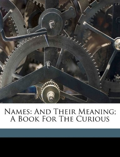 English Names And Their Meanings front-1067423