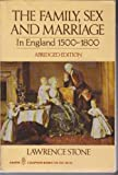 Family, Sex and Marriage in England, 1500-1800 (Peregrine Books) (0140551670) by LAWRENCE STONE