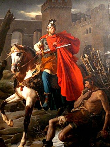 「天使の祭壇シリーズ」 貧しさを克服しようと戦う人の守護聖人 聖マルティーノ(St. Martin of Tours)フレームセット 祈りの癒し ヒーリング 家の守り神 困難の克服に (ガラスフレームセット)
