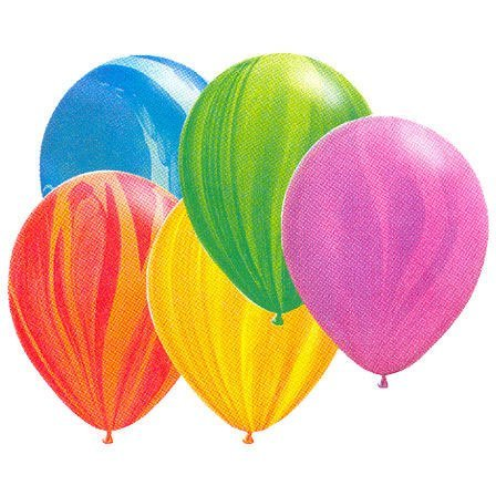 "11"" Rainbow Agate Assortment Balloons (10 per package)"