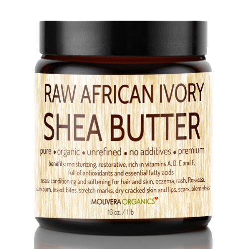 Shea Butter - Molivera Organics 16 Oz. Raw Unrefined