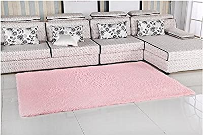 YOFAN 4-Feet By 5-Feet Modern Shag Area Rug,Super Soft Living Room/Bedroom/Kitchen Carpet,4Cm Wool Length