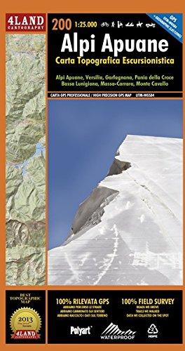 Alpi Apuane. Carta topografica-escursionistica 1:25.000. Ediz. italiana, inglese e tedesca