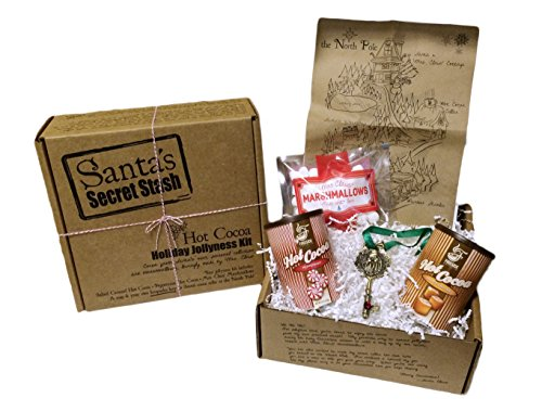 Santa's Secret Stash Hot Cocoa Gift Set, Salted Caramel and Peppermint with Mrs. Claus Marshmallows (Chocolate Marshmallow Santa compare prices)