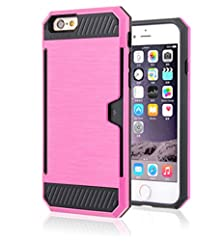 buy Iphone 6 Case,Shouhu Armor Guard Case For Iphone 6 / Iphone 6S (4.7 Inch) Unique Design - Stylish And Attractive - Stand Out In Crowd With Card Holder (Pink)