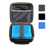BOVKE for Bose Soundlink Color Wireless Bluetooth Speaker / for UE ROLL 360 Wireless Bluetooth Speaker Hard EVA Shockproof Carrying Case Storage Travel Case Bag Protective Pouch Box, Mesh Black