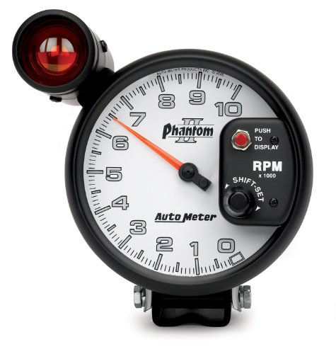 "Auto Meter 7599 Phantom Ii 5"" 10000 Rpm Shift-Lite Tachometer"