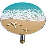 Wenko 21841100 Badewannenstöpsel Pluggy XXL by the sea, Abfluss-Stopfen, für alle handelsüblichen Abflüsse, Kunststoff, mehrfarbig