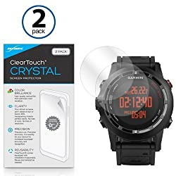 Garmin Fenix 2 Screen Protector, BoxWave [ClearTouch Crystal (2-Pack)] HD Film Skin - Shields From Scratches for Garmin Fenix 2