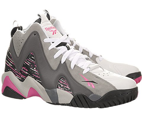 Reebok Kamikaze II Mid Mens Basketball Shoe 10 Carbon-Shark-Solid Grey