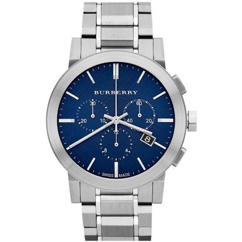 [バーバリー] BURBERRY 腕時計 ウォッチ ステンレス シティ クロノグラフ ブルー/シルバー BU9363 [並行輸入品] [時計]