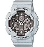 G-Shock GA-100 Ice Gray Classic Series Mens Stylish Watch - White / One Size