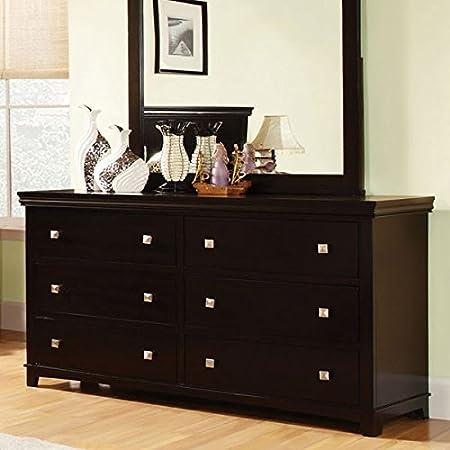 Dunhill Transitional Style Espresso Finish Bedroom Dresser