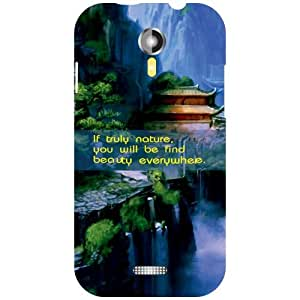 Micromax A117 Canvas Magnus Back Cover - Lonely Designer Cases