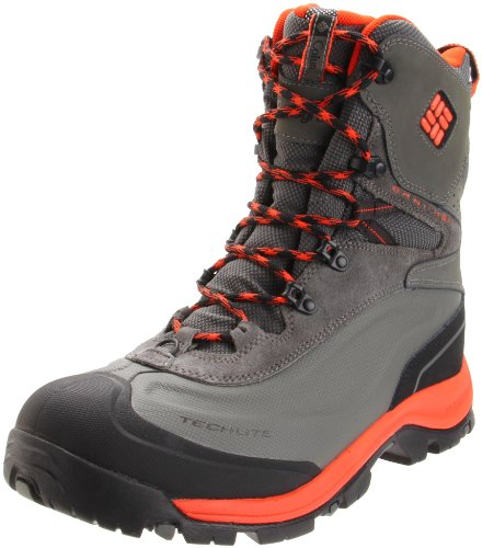 Columbia Sportswear Men's Bugaboot Plus Cold Weather Boot,Black/ Spicy Orange,9.5 M US