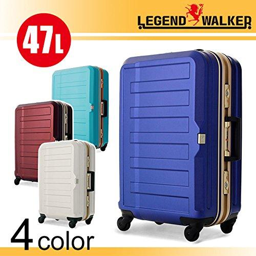 LEGEND WALKER スーツケース キャリーケース 4輪 TSAロック ポリカーボネート シボ加工 高品質 47L ts-5088-55 (ワインレッド)