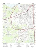 Topographic Map Poster – SHREVEPORT WEST, LA TNM GEOPDF 7.5X7.5 GRID 24000-SCALE TM 2013 19″ x 24″