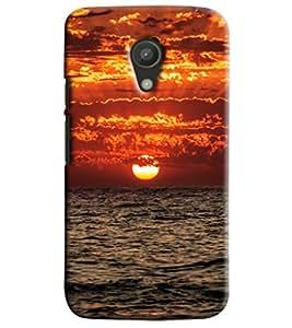 Blue Throat Sea Site Sun Rising Printed Designer Back Cover/Case For Motorola Moto G2