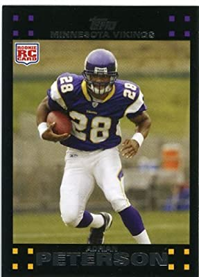2007 Topps Football # 301 Adrian Peterson (RC) Rookie Card - Minnesota Vikings - NFL Trading Cards