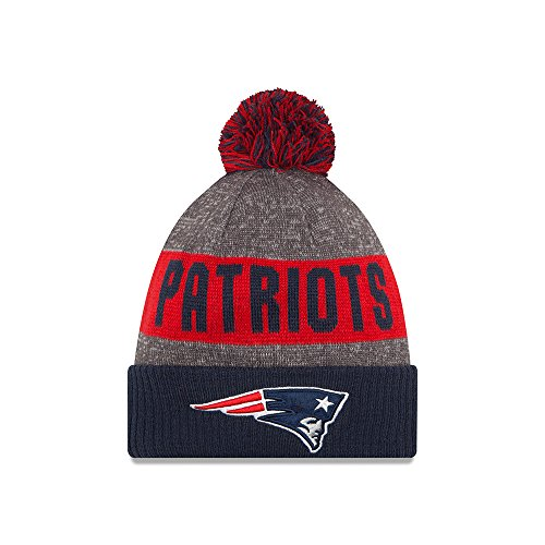 New England Patriots New Era 2016 Sideline On Field Sport Knit Hat - Navy Cuff