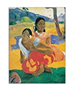 Artopweb Panel Decorativo Gauguin When Will You Marry? 80 x60 cm Bordo Nero
