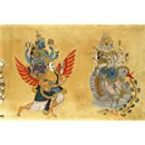 Brahma and Sarasvati on the cosmic goose and Vishnu and Lakshmi on Garvola (Print On Demand)