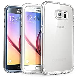 Galaxy S6 Case, SUPCASE Ares Full-body Rugged Clear Bumper Case with Built-in Screen Protector for Samsung Galaxy S6 (2015 Release)