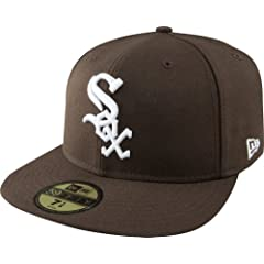 MLB Chicago White Sox Brown with White 59FIFTY Fitted Cap by New Era