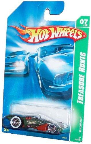Hot Wheels 2006 TREASURE HUNTS Series 1:64 Scale Die Cast Metal Car # 7 of 12 - Black Brutalistic Speed Shop BSS Race Car : BRUTALISTIC