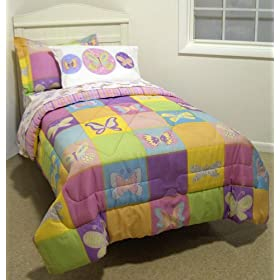 Crayola Butterfly Pastel Comforter