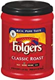 Folgers Coffee Ground Classic Roast Regular, 11.3-Ounce Packages (Pack of 4)