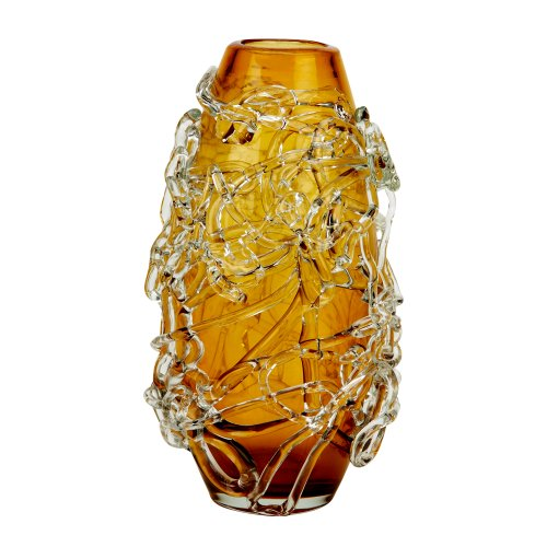 51O3%2BOU5jfL IMPULSE! Ice Decorative Vase, Large Amber