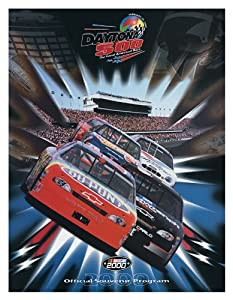 NASCAR Canvas 22 x 30 Daytona 500 Program Print Race Year: 42nd Annual - 2000 by Mounted Memories