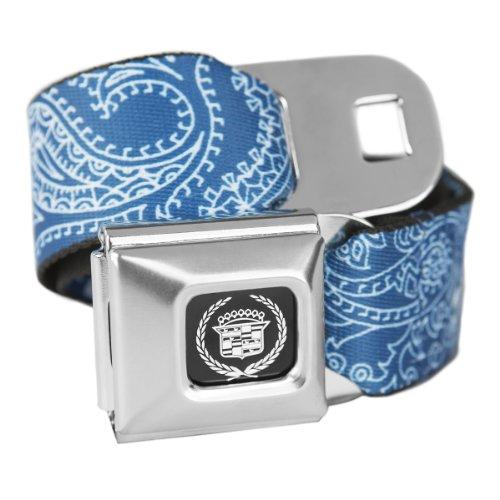 Blue Bandana Cadillac Seatbelt Buckle Fashion Belt - Officially Licensed