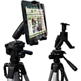 "ChargerCity HDX2 Tablet Video Camera Recording/Selfie Tripod Adapter Mount w/Dual 360° Swivel Adjustment Joint & Universal Tablet holder for 7"" 8"" 9"" 10"" 12"" Tablets for Apple iPad 2 3 4 Air Mini (Retina) Samsung Galaxy Tab 3 4 Note Google Nexus LG G Pad Fire HD Asus Vivo Memo Tab Lanovo ideaPad Yoga Microsoft Surface Slate Pro. (Tablet & Tripod is not included with purchase)"
