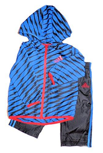 Adidas Little Boys 2 Piece Active Pants Set (12 Months, Blue Black) front-951298