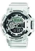 Casio - GA-400-7AER - G-Shock - Montre Homme - Quartz Analogique - Digital - Cadran LCD - Bracelet Résine Blanc