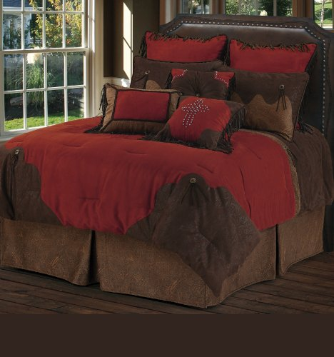 Brown And Red Bedding 174154 front