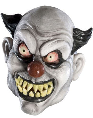 New Adult's Psycho Scary Evil Clown Vinyl Costume Mask