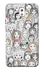DailyObjects Girls Case For Samsung Galaxy Note 3 N9000 (Back Cover)