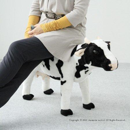 大人が座っても大丈夫!座れる牛さんのぬいぐるみ○座れる牛(耐荷重80KG)