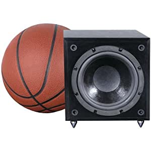 Pinnacle Speakers Baby Boomer Dual (2) 8-Inch 600 Watt Powered Side Firing Subwoofer (Black) (Discontinued by Manufacturer)