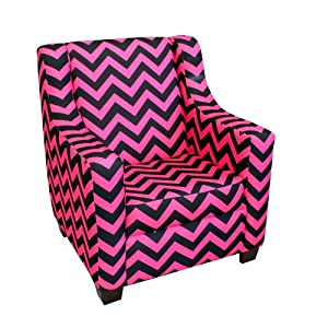 Newco Kids Baby Retro Chevron Chair, Black and White
