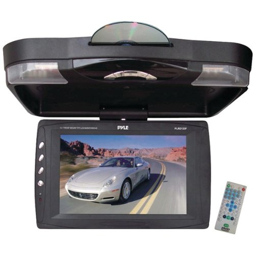 PYLE PLRD133F 12.1inin Flip-Down LCD Monitor with DVD Player