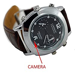 M MHB SPY Wrist watch Hidden audio/video Recording. While recording no light Flashes. Leather Wrist Watch Camera Inbuild 4gb Memory .Original Brand Only Sold by M MHB.