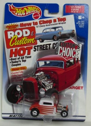 Hot Wheels Editor's Choice '32 Ford Coupe 1/64 scale diecast car