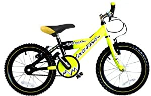 Raleigh Charge Boy's Mountain Bike - Yellow/Black, 16 Inch (Old Version)