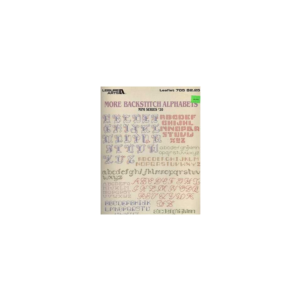 More Backstitch Alphabets   Mini Series #20   #705   Counted Cross Stitch Patterns   Leisure Arts
