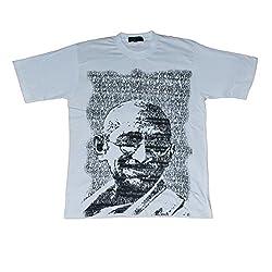 Indsights Men's T-Shirt Mahatma 42' Large